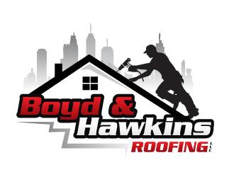 boyd amp hawkins roofing logo design 48hourslogocom