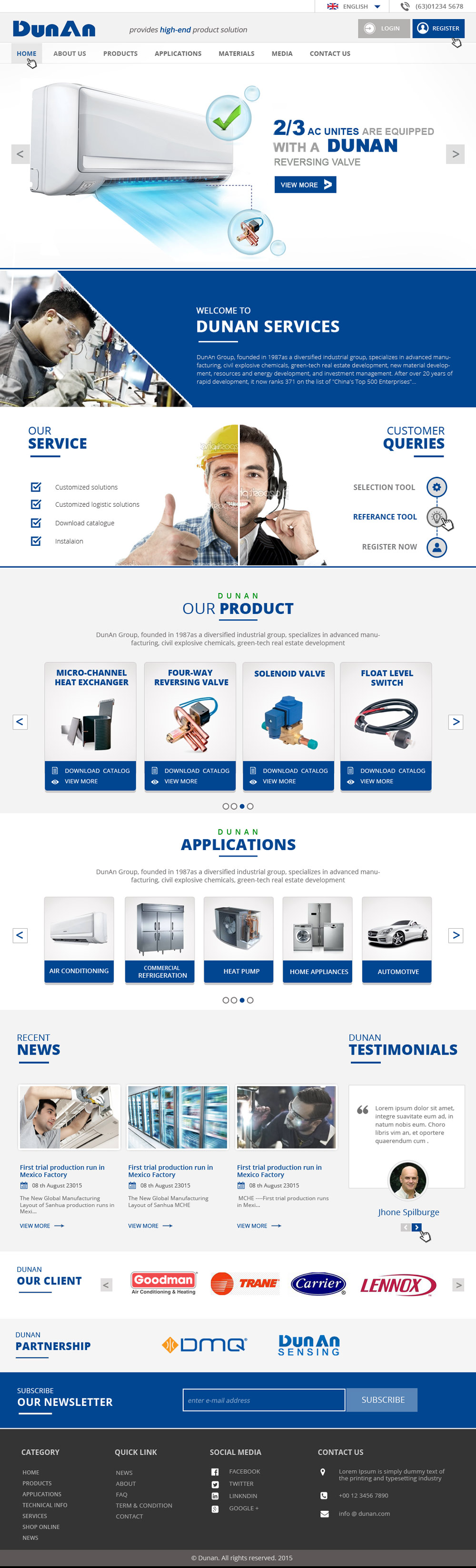 New Website Design for AV/Refrigeration Manufacture Company logo design