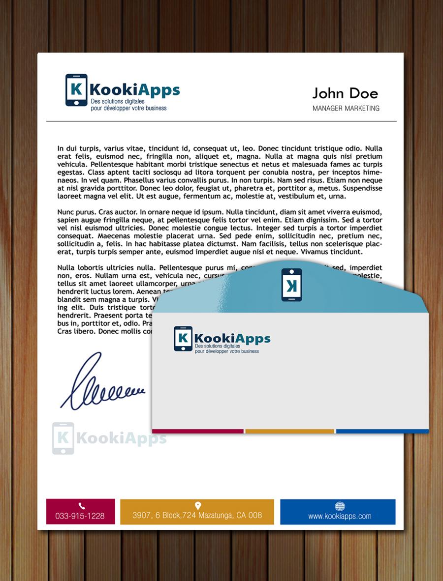 KookiApps logo design