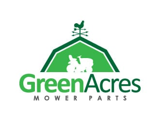 Green Acres Mower Parts logo design