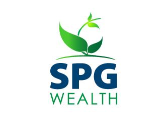 spg wealth logo design 48hourslogocom