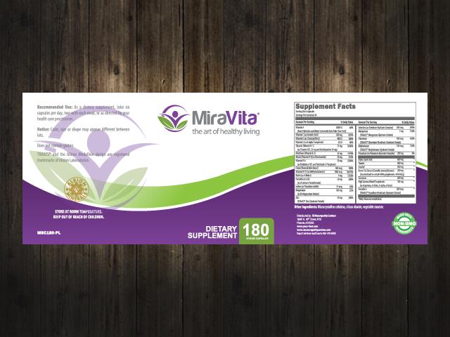 DeRosa Medical MiraVita logo design
