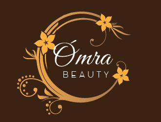 ÓMRA BEAUTY logo design