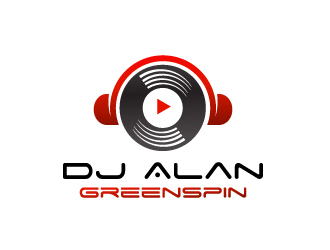 Dj Alan GreenSpin logo design