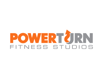 powerturn fitness studios logo design