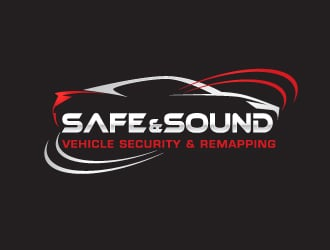 Safe & Sound Vehicle Security & Remapping logo design