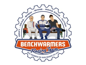 Benchwarmers Racing Team logo design