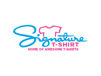 SignatureTshirt logo design