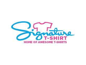 SignatureTshirt logo design