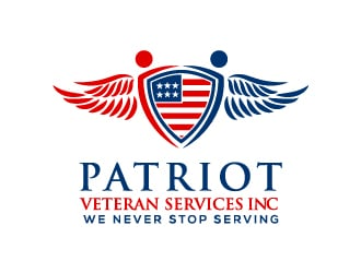 Patriot Veteran Services    It's Our Turn... logo design