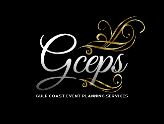 gulf coast event and planning gpeps in a fancy font logo
