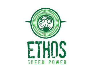 Ethos Green Power logo design