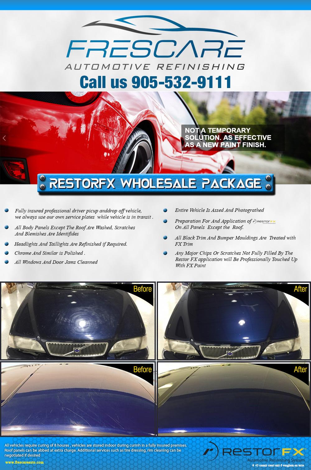 Frescare Auto Full Page Ad Print Design Logo Concepts 26