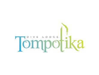 Tompotika dive lodge logo design