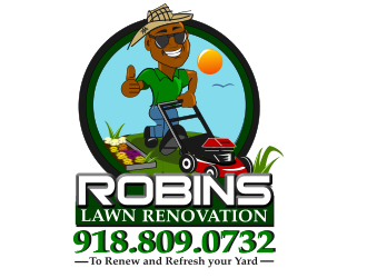 Robins Lawn Renovation logo design