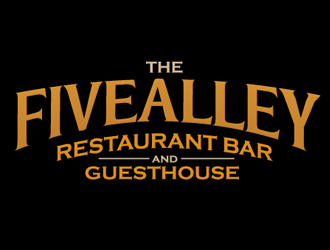 THE FIVEALLEY  RESTAURANT BAR AND GUESTHOUSE logo design