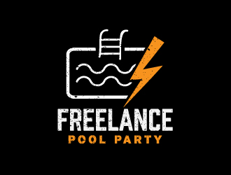 Freelance Pool Party logo design