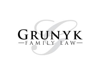 Grunyk Family Law logo design