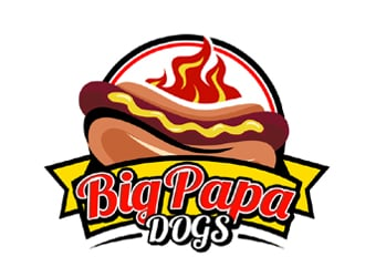 Big Papa Dogs logo design