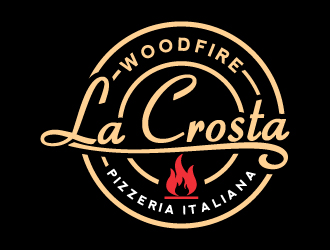 La Crosta Woodfire Pizzeria Italiana logo design