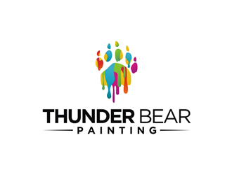 Thunder Bear Painting logo design