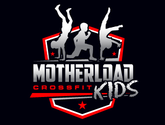 MotherLoad CrossFit KIDS logo design