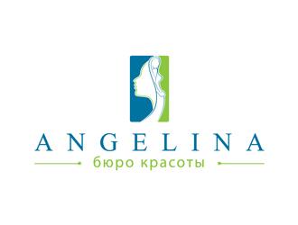 Angelina бюро красоты logo design