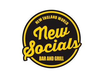 New Socials Bar and Grill logo design