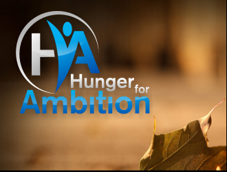 Hunger for Ambition or the acronym HA logo design