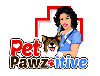 Pet Pawz-itive logo design