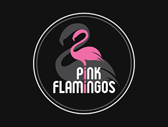 Pink Flamingos logo design