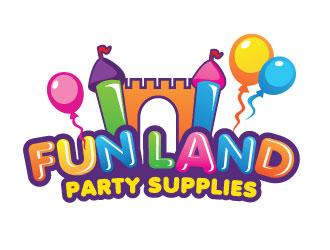 FUN LAND Party Supplies Logo Design Concepts 3