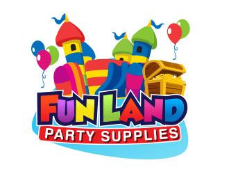 FUN LAND Party Supplies Logo Design Concepts 6