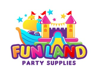 FUN LAND Party Supplies Logo Design Concepts 16