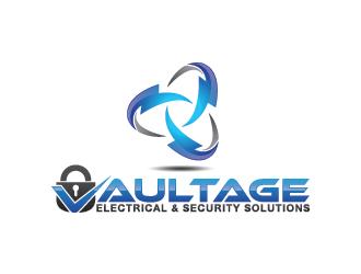 Vaultage Electrical & Security Solutions logo design
