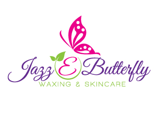 Jazz E Butterfly Waxing & Skincare logo design