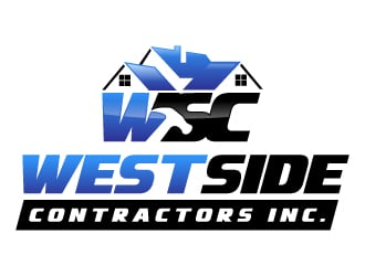 West Side Contractors Inc. WSC logo design