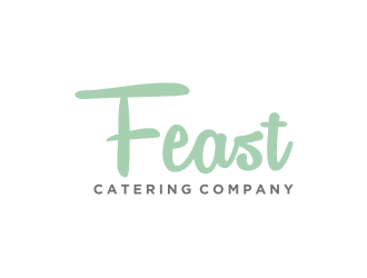 FEAST. Catering Company logo design
