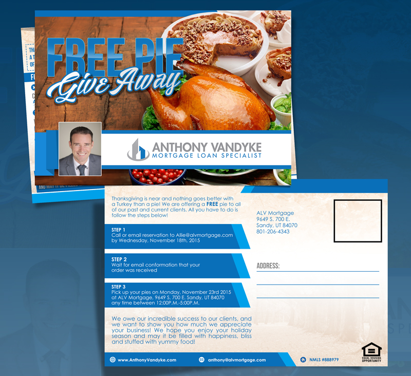 ALV Mortgage Free Pie Give Away! logo design