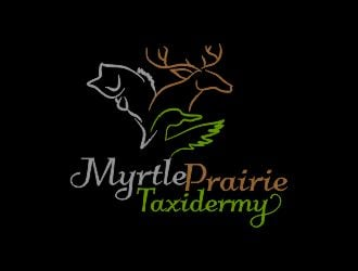 Myrtle Prairie Taxidermy logo design