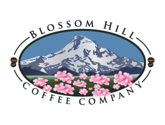 Blossom Hill Coffee Company logo design