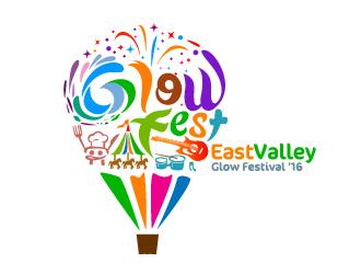Glow Fest logo design