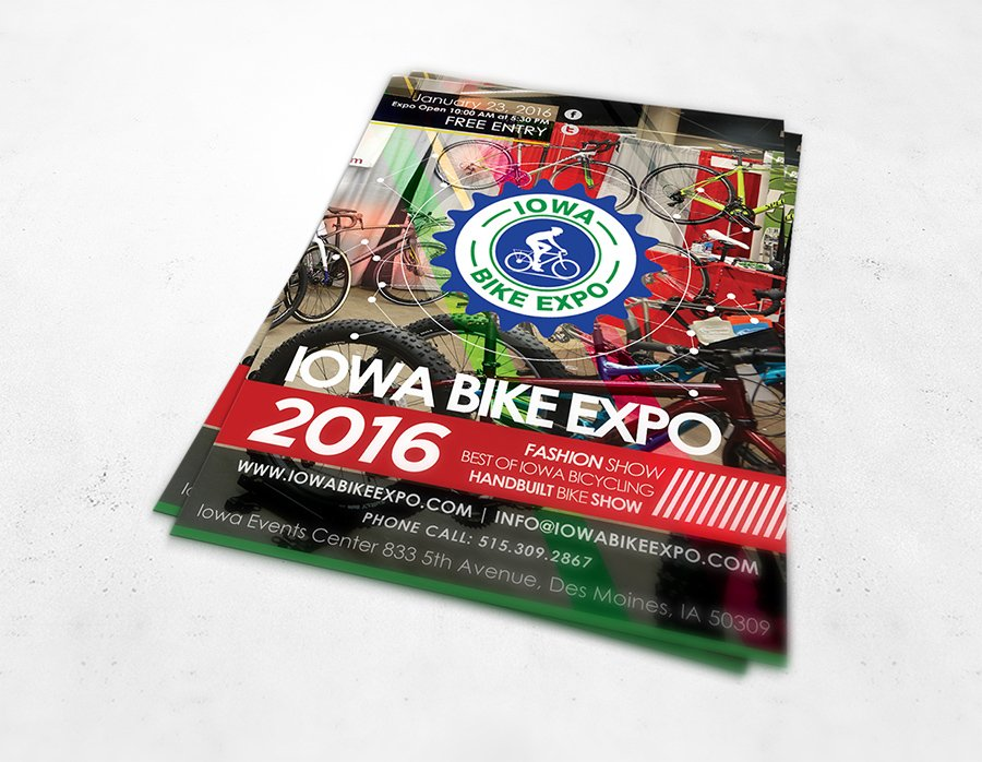 2016 Iowa Bike Expo logo design