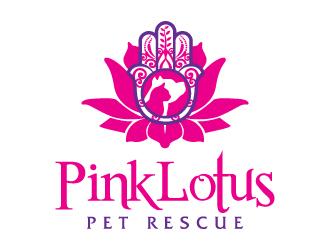 Pink Lotus Pet Rescue logo design