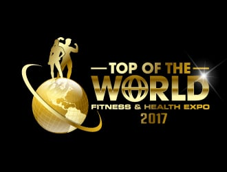 2017 Top of the World Fitness & Health Expo logo design