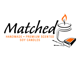 Matched // Handmade * Premium Scented * Soy Candles* logo design