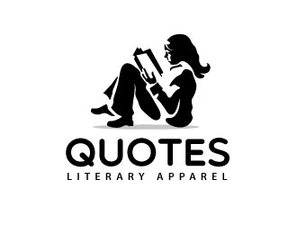 Quotes Literary Apparel logo design