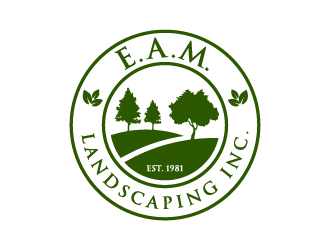 EAM Landscaping. Inc. logo design