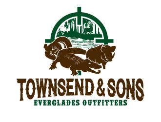 Townsend & Sons Everglades Outfitters logo design