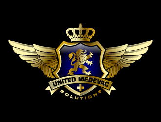 United Medevac Solutions logo design
